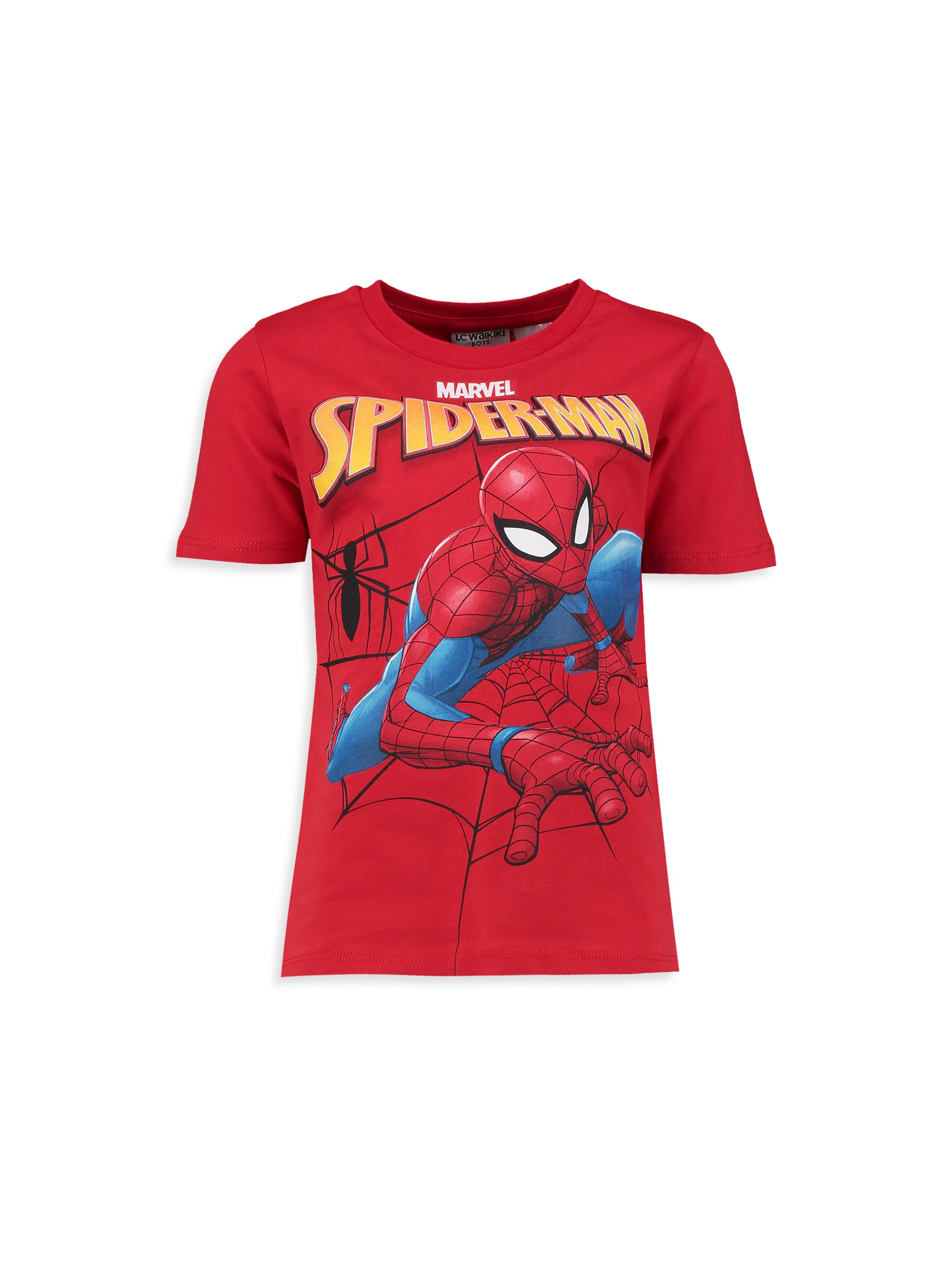 RED - Boy's Spiderman Printed Cotton T-Shirt - 8S8679Z4