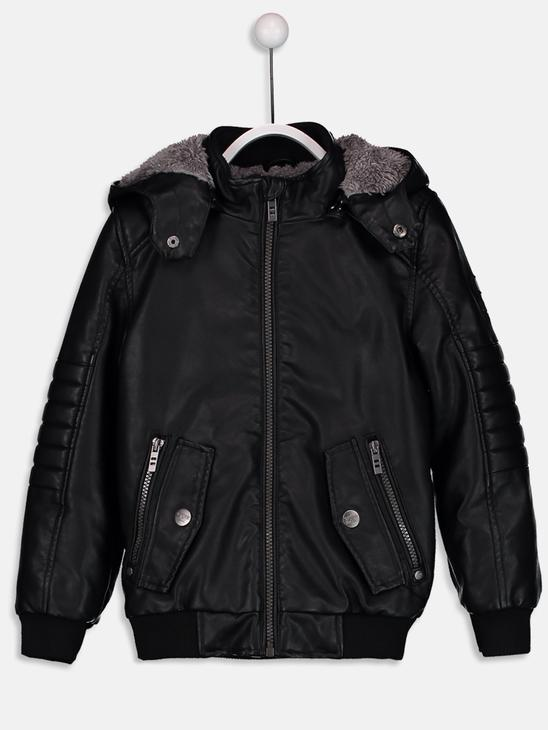 Black - Short Coat - 8W1285Z4