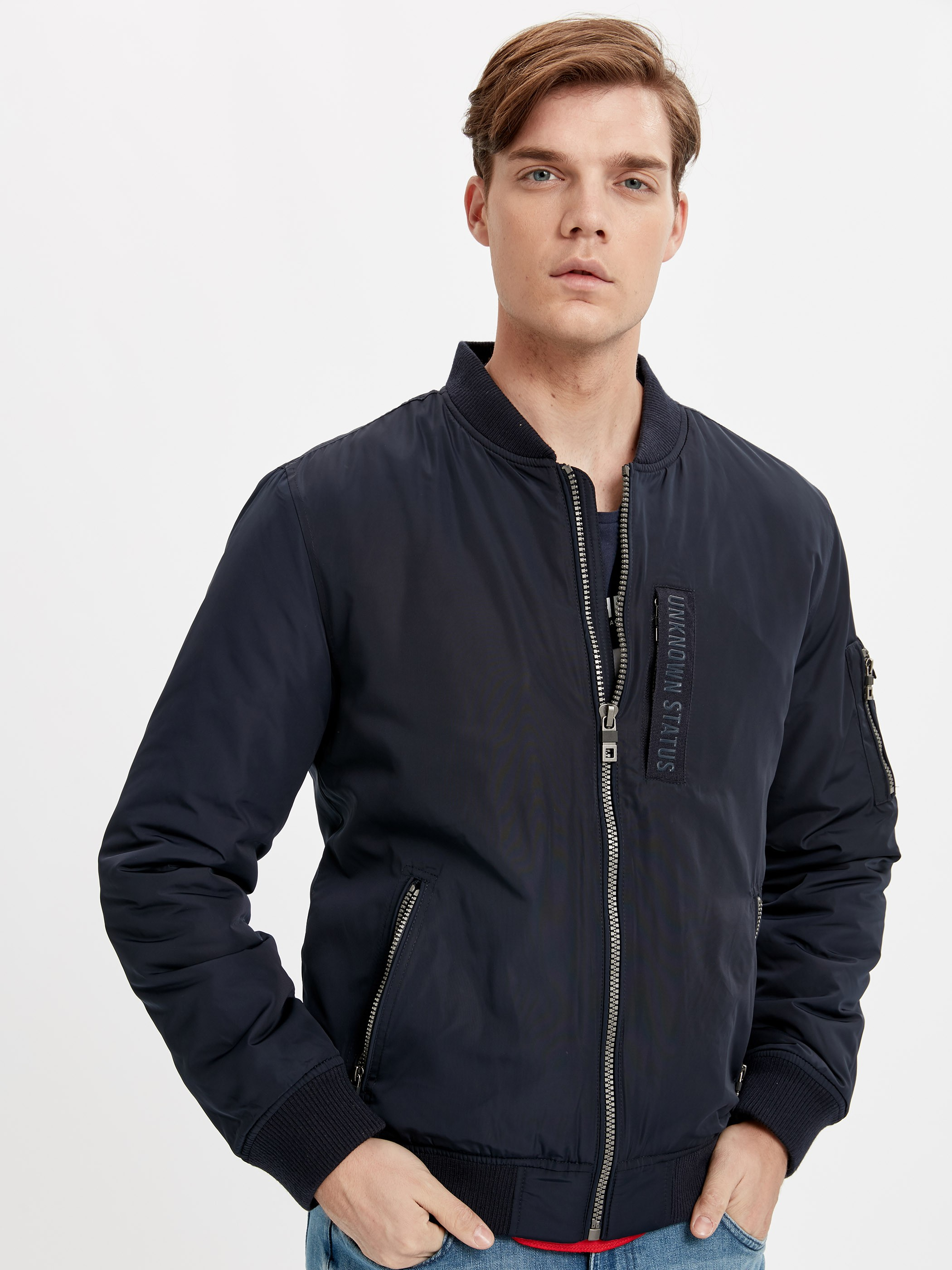 Navy - Short Coat - 8W3096Z8