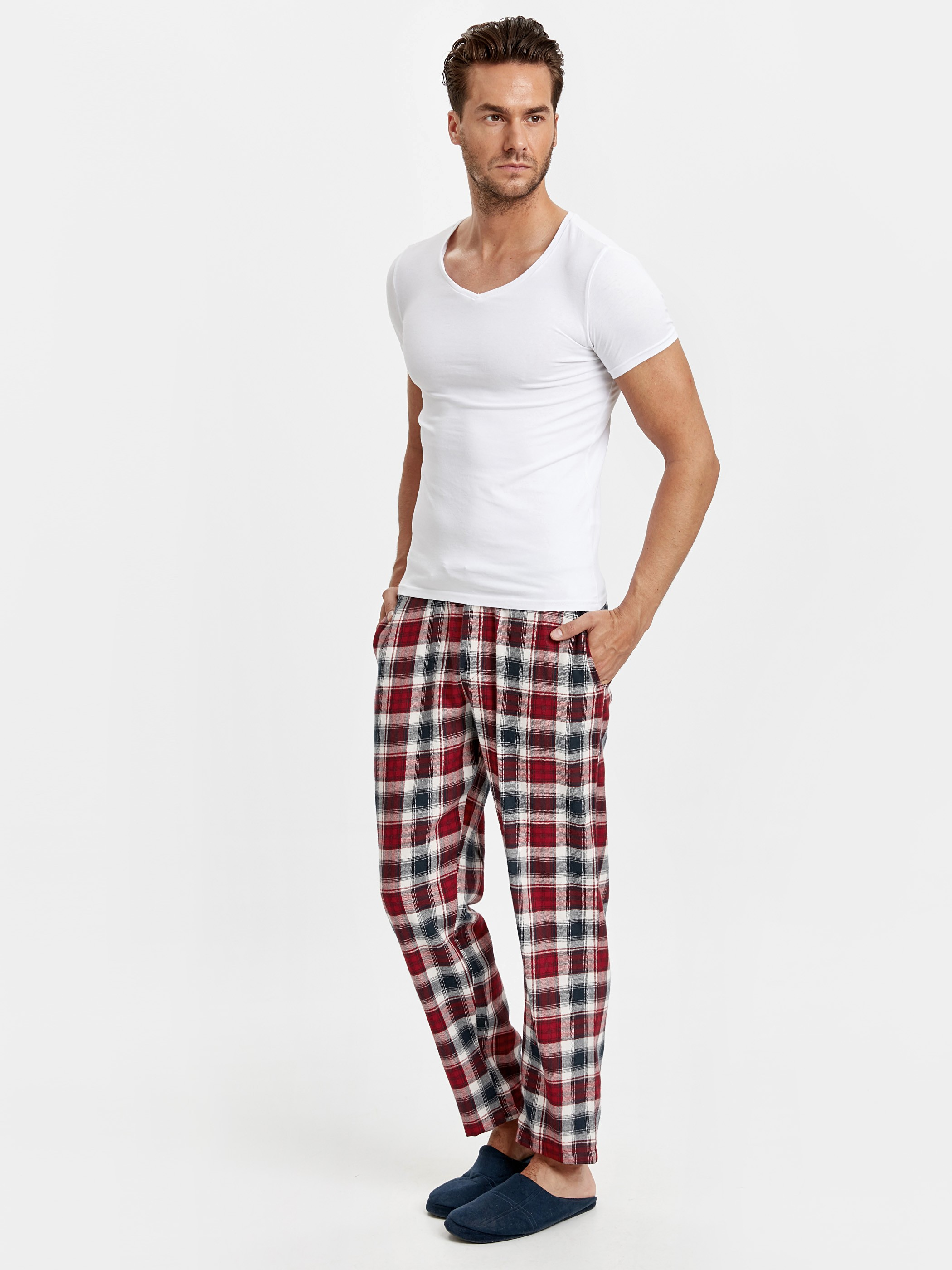 Red - Pajamas Bottom - 8W2289Z8