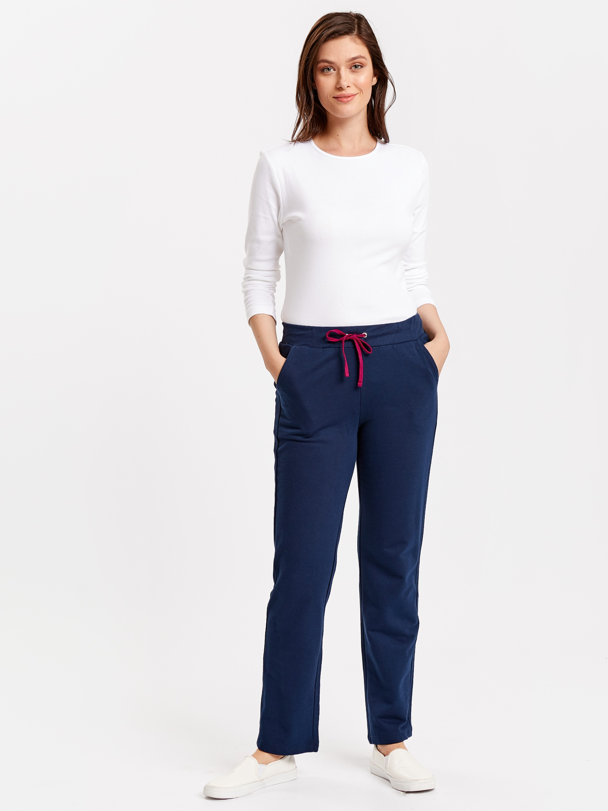 Navy - Trousers - 8W2433Z8