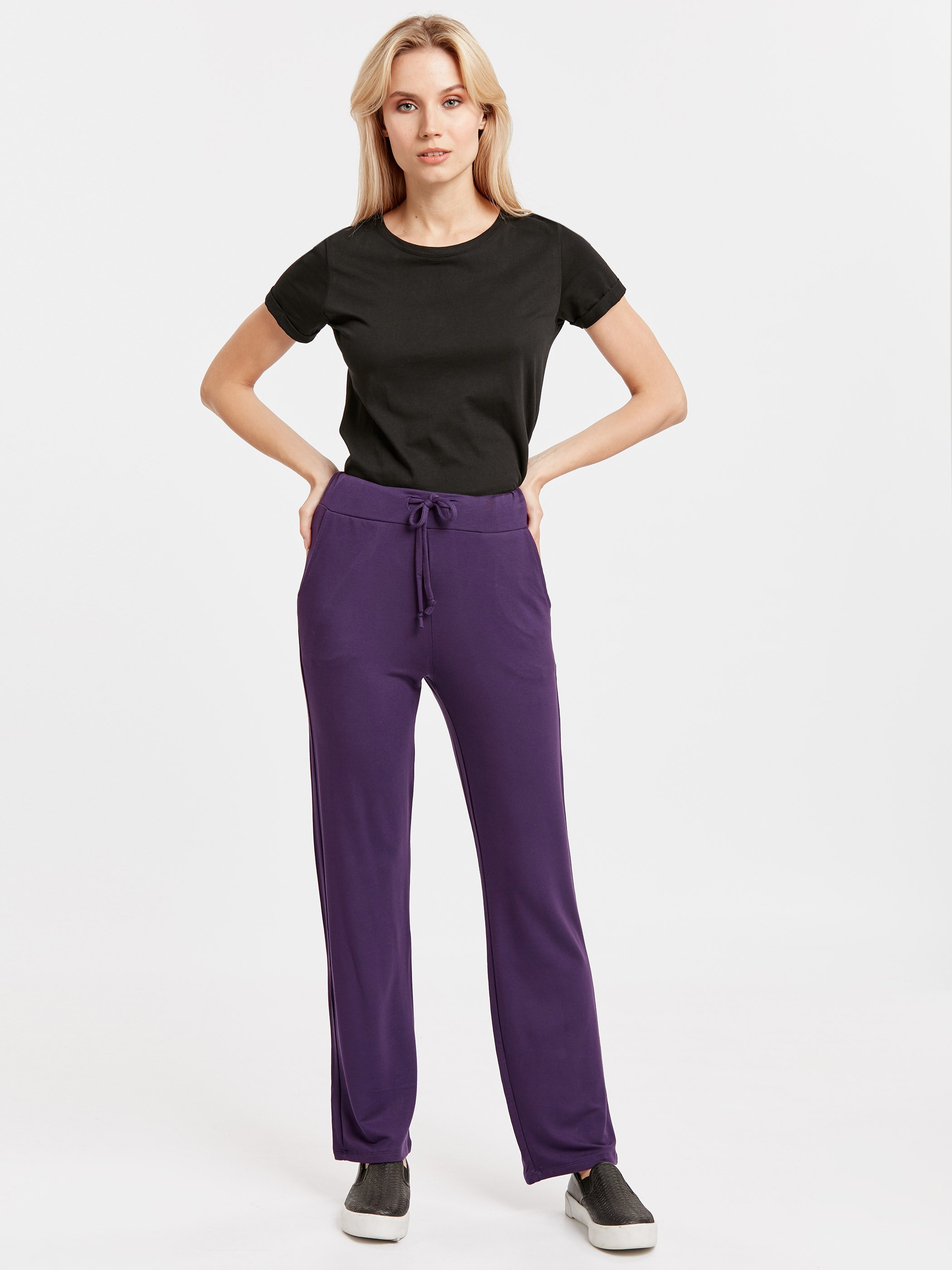 PURPLE - Sweatpants - 8W2436Z8