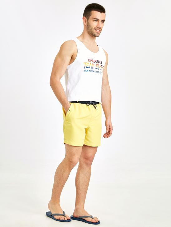 YELLOW - Basic Short Swim Trunk - 9S7921Z8