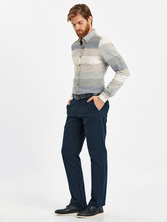 Navy - Trousers - 8W0887Z8