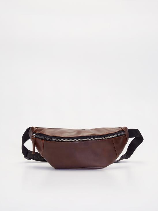 BROWN - Faux Leather Waist Bag - 9WH238Z8