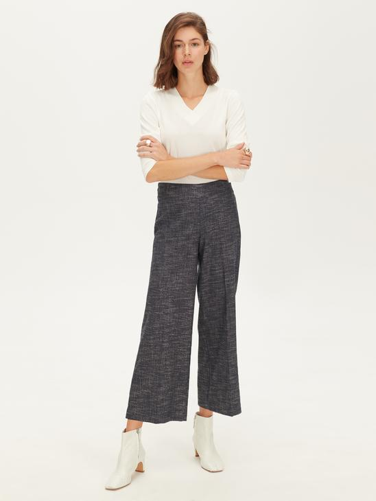 BLUE - Ankle Length Loose Leg Trousers - 9W9855Z8