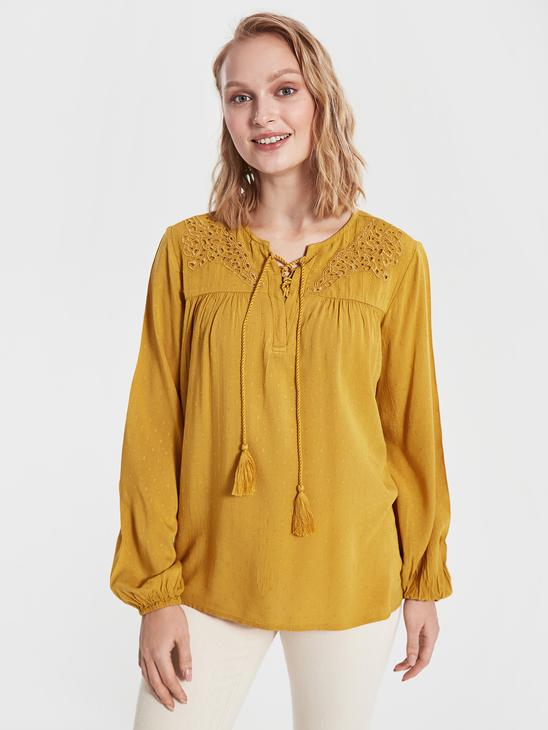 YELLOW - Blouse - 0S7222Z8
