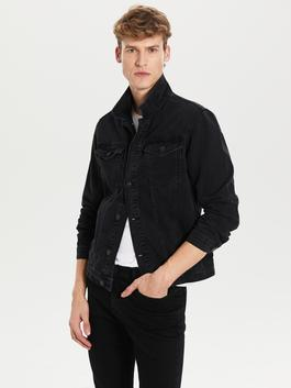 BLACK - Regular Fit Jean Jacket