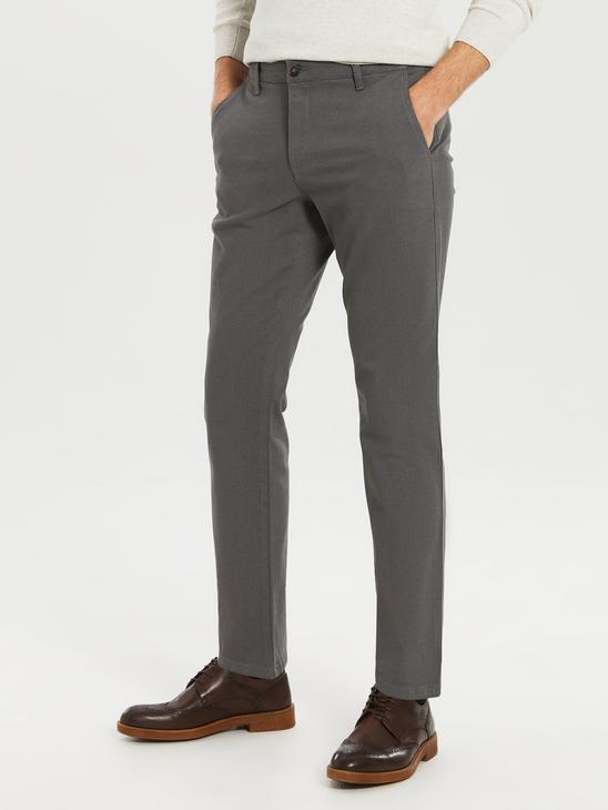 KHAKI - Standard Fit Twill Trousers - 0S0896Z8