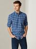 NAVY - Regular Fit Chequered Poplin Shirt - 0S7848Z8