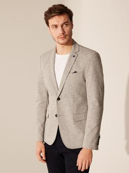 GREY - Slim Fit Blazer Jacket
