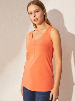 CORAL - Crew Neck Basic Tank Top