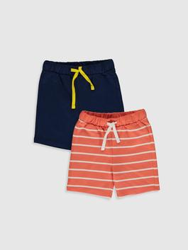 NAVY - 2-pack Baby Boy's Cotton Shorts