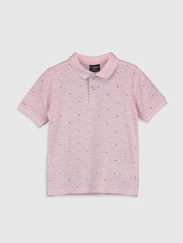 PINK - Boy's Printed Polo Neck T-Shirt Family Matching