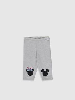 GREY - Baby Girl Minnie Mouse Printed 3/4 Lenght Tights