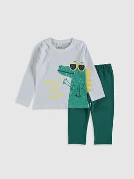 WHITE - Baby Boy's T-Shirt and Trousers