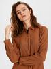 BROWN - Fastening Detailed Waist Viscose Tunic - 0S8379Z8