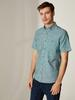 GREEN - Regular Fit Short Sleeve Poplin Shirt - 0S5740Z8