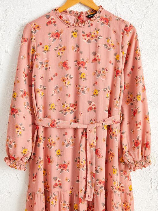 PINK - Waistband Floral Chiffon Dress - 0ST640Z8