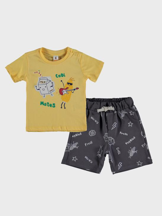 YELLOW - 2-pack Baby Boy's Printed Set - 0SO618Z1
