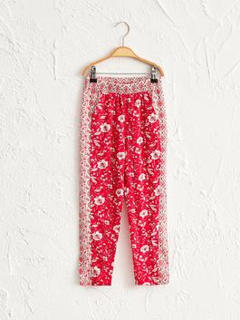 RED - Girl's Viscose Trousers