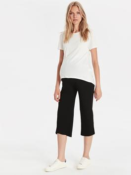 BLACK - Self-Patterned Maternity Trousers