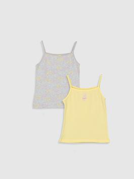 YELLOW - 2-pack Girl's Cotton Tank Top