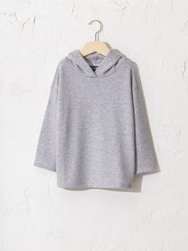 GREY - Girl's T-Shirt with Hood