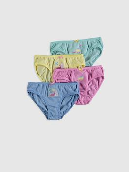 TURQUOISE - 4-pack Girl's Cotton Briefs