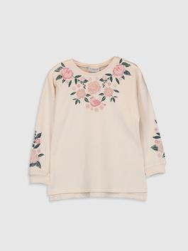 BEIGE - Girl's Embroidered T-shirt