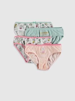 PINK - 4-pack Girl's Cotton Briefs
