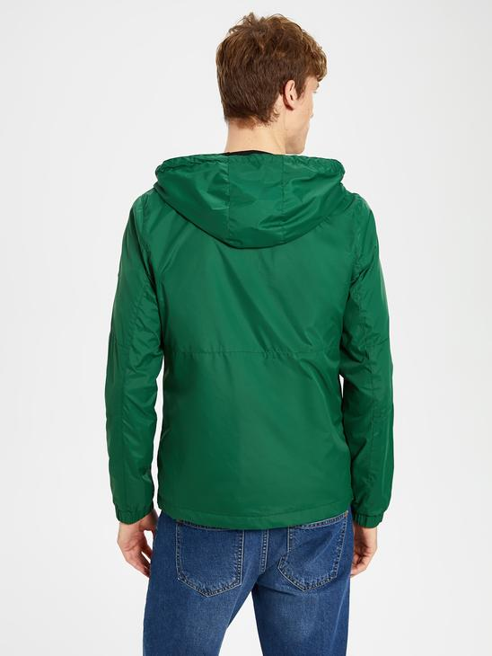 GREEN - Comfortable Fit Lightweight Short Coat with Hood - 0S1163Z8