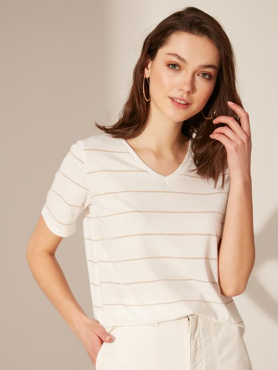 YELLOW - Striped Stretch T-Shirt - 0S4950Z8