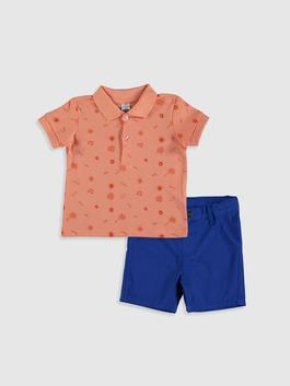BLUE - Baby Boy's 2-pack T-Shirt and Shorts