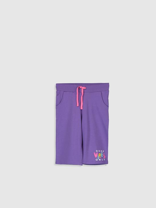 PURPLE - Girl's Printed Shorts - 0S4989Z4