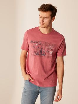 PINK - Crew Neck Printed Combed Cotton T-Shirt