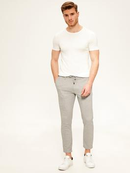 GREY - Slim Fit Poly Viscose Trousers
