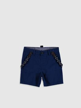 NAVY - Baby Boy's Shorts and Clip On Suspender