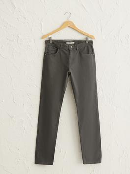 ANTHRACITE - Regular Fit Textured Trousers