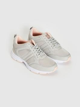 GREY - Women's Active Lace-up Trainers