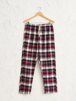 RED - Standard Fit Chequered Pyjamas Bottom