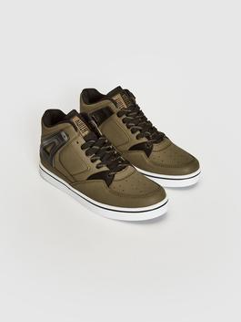 KHAKI - Men's Casual High-cut Trainers