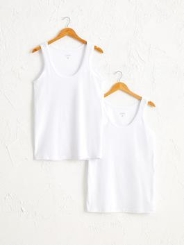 WHITE - 2-pack Cotton Tank Top