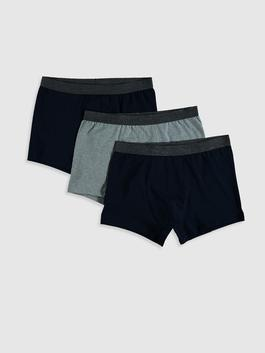 NAVY - 3-pack Stretch Fabric Boxer