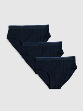NAVY - 3-pack Stretch Fabric Standard Fit Slip Boxers