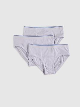 WHITE - 3-pack Stretch Fabric Standard Fit Slip Boxers