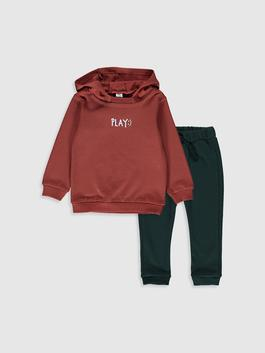BROWN - Baby Boy's Sweatshirt and Trousers