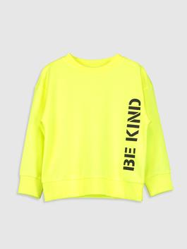 YELLOW - Girl's Letter Printed Sweatshirt
