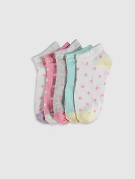 ECRU - 5-pack Girl's Trainer Socks