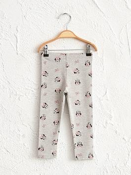 GREY - Baby Girl's Minnie Mouse Printed Leggings